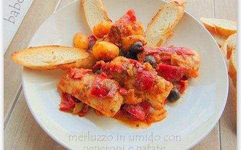 merluzzo  con peperoni e patate