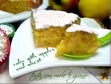 Torta con mele e grano