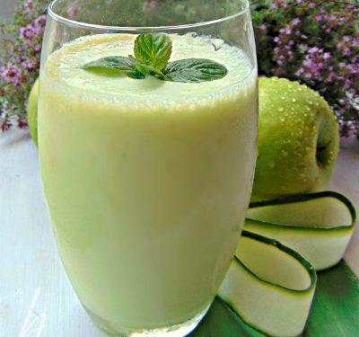 Frappè alla  mela verde e cetrioli