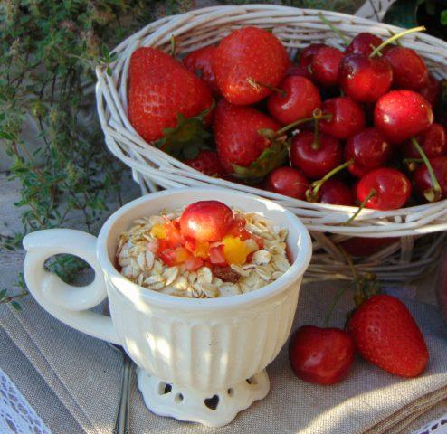 vellutata di fragole e ciliege