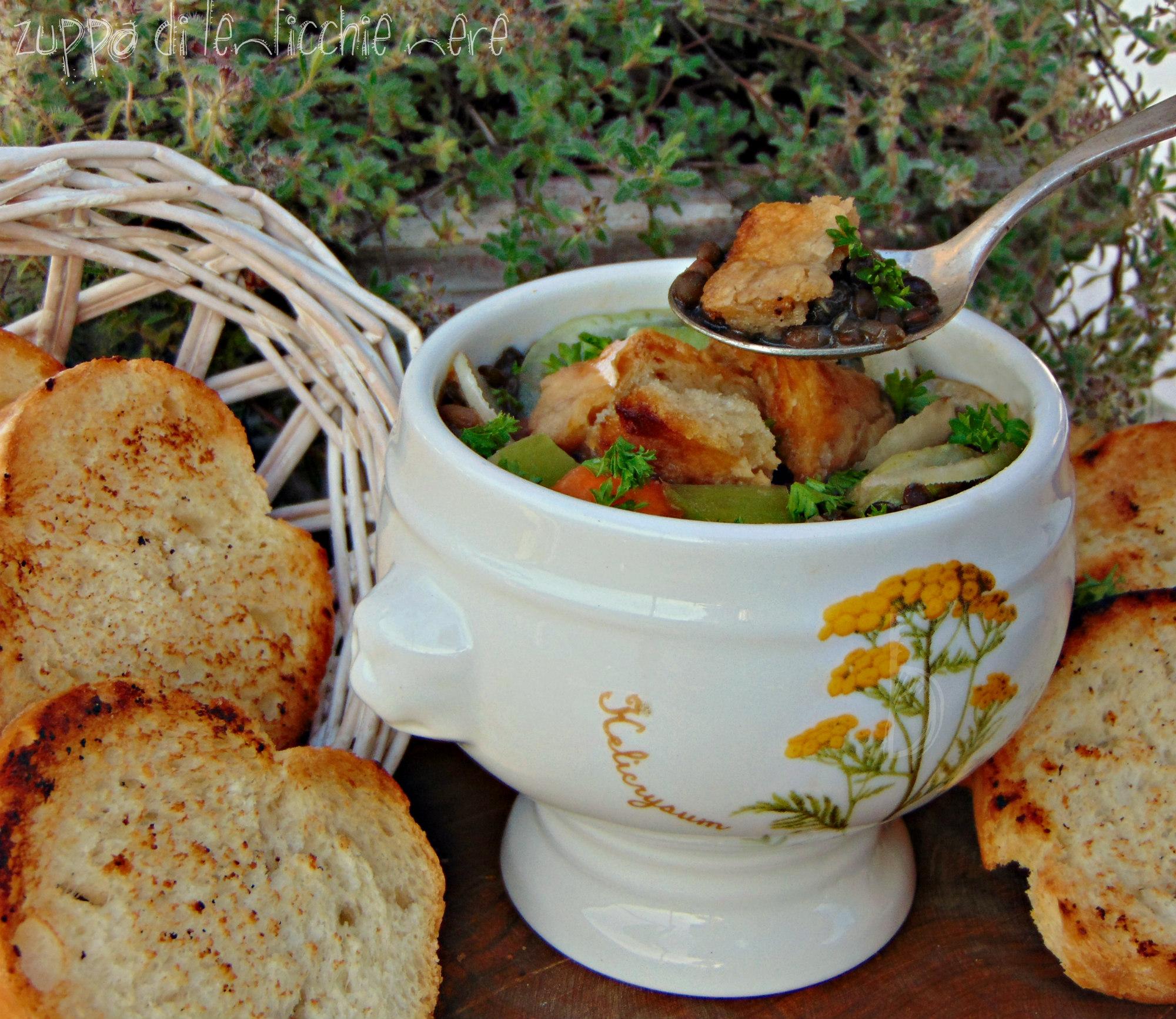 zuppa di lenticchie nere ( beluga)