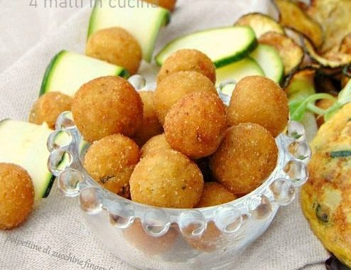 Polpette mini di zucchine finger food