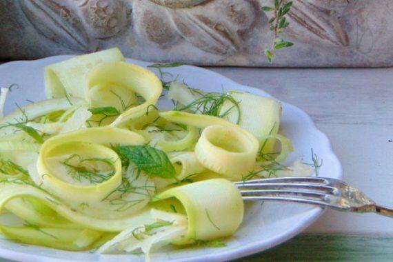 Carpaccio di zucchine.Tanto gusto con pochissime calorie
