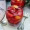 karkadè ghiacciato con granita  e frutta