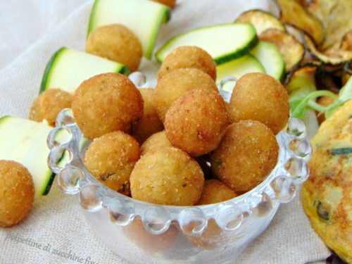 Polpettine di zucchine finger food