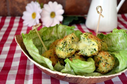 cucchiaio verde polpette di zucchine e ricotta