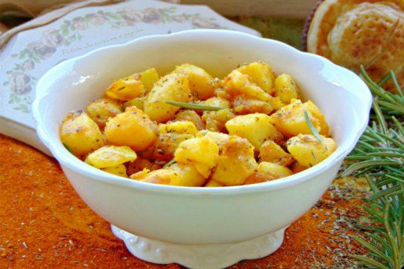 Patate alla curcuma e paprika