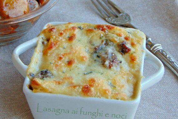 Lasagna ai funghi e noci