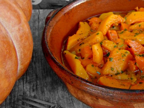 zucca  contadina. Un piatto rustico e semplice   (dedicata a mio nonno)