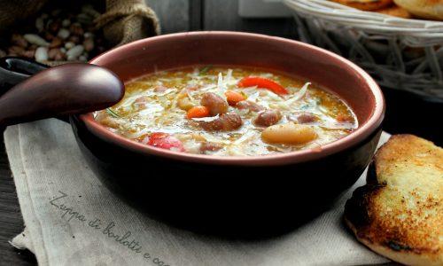 Zuppa di fagioli borlotti e cannellini