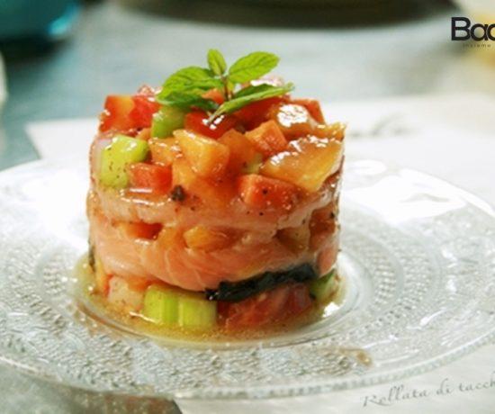Tartare di verdure e salmone
