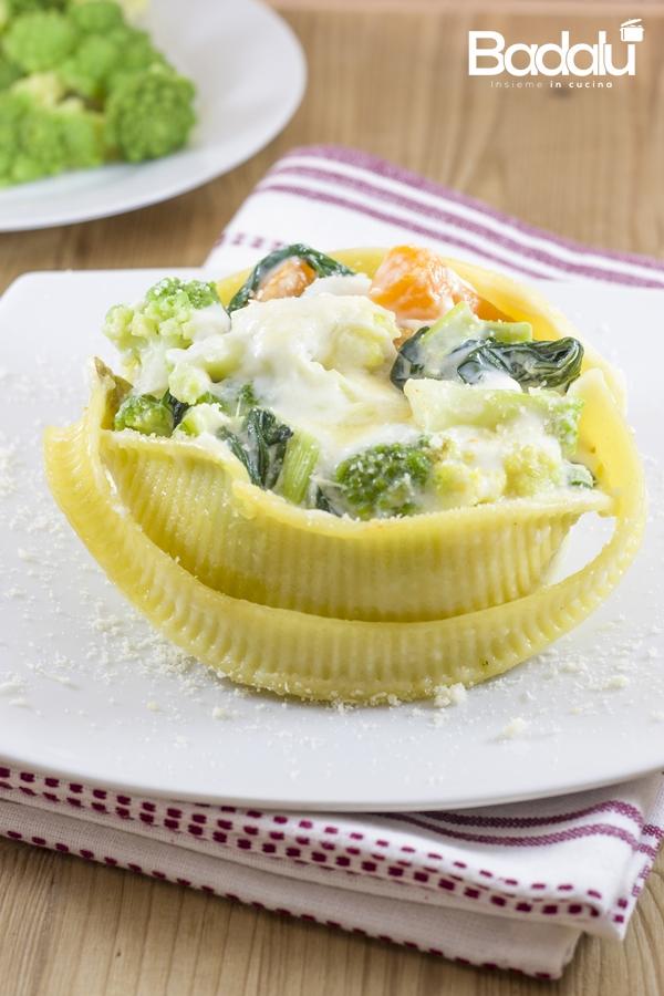 Caccavelle con zucca e broccoli-la fabbrica della pasta di gragnano