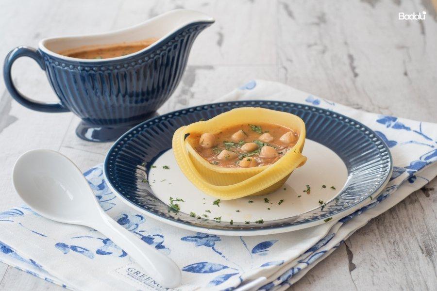 Caccavelle con zuppa marocchina- la fabbrica della pasta di gragnano