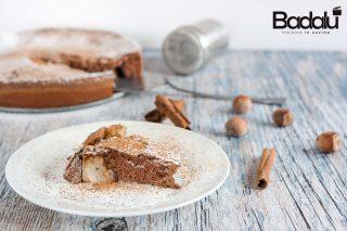 Torta al cioccolato nocciole e pere senza glutine