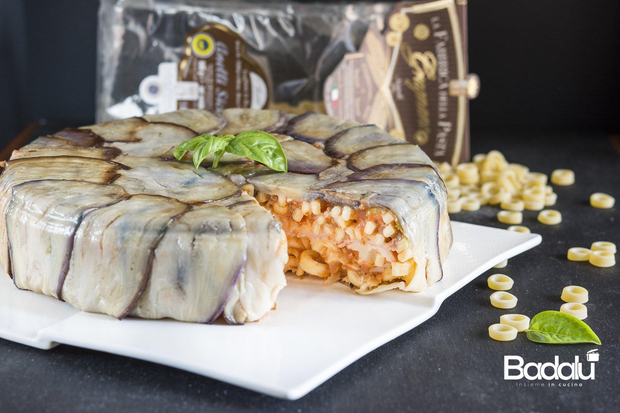 Timballo di anelli siciliani con cotto, mozzarella e ricotta salata La Fabbrica della pasta di Gragnano