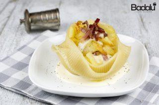 Caccavelle senza glutine con patate speck e mozzarella- La fabbrica della pasta di gragnano