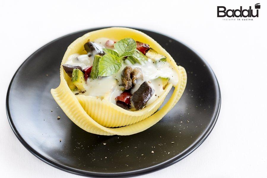 Caccavelle ripiene di verdure grigliate e stracchino filante La Fabbrica della Pasta di Gragnano