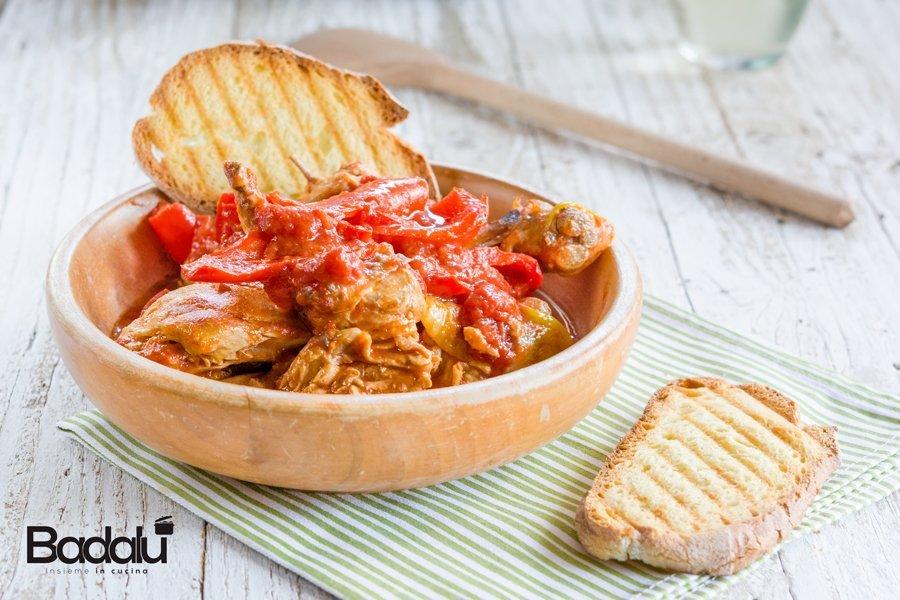 Pollo con i peperoni ricette con tegami Dr. Green di Risolì