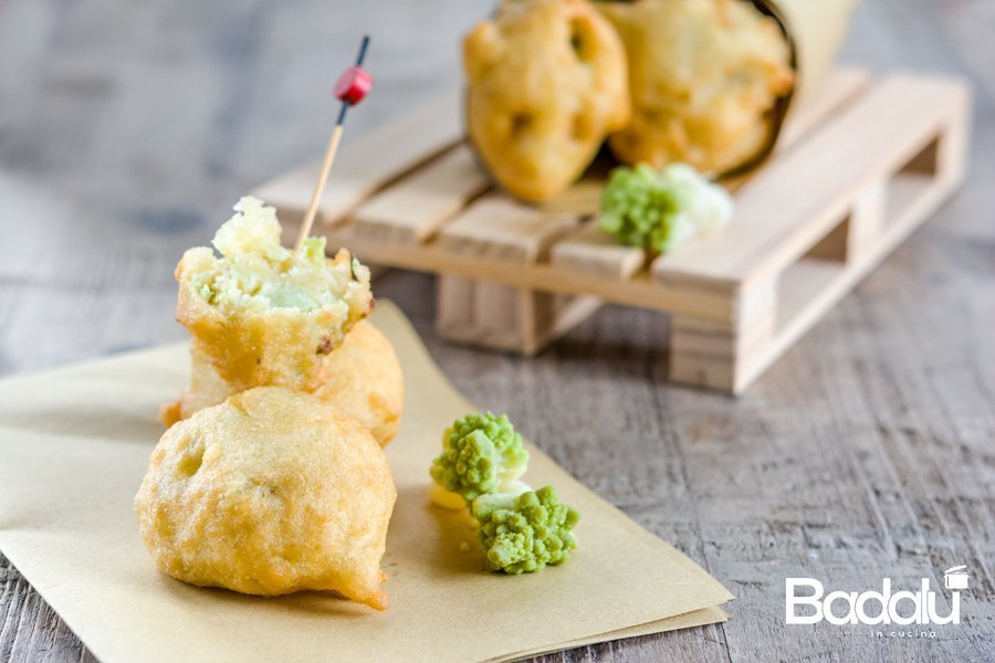 Frittelle di broccolo romanesco farine Casillo
