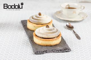 Crostatine con crema al caffè e namelaka- selezione casillo - silikomart
