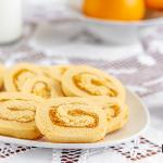Girelle di frolla con marmellata di arance farina Casillo