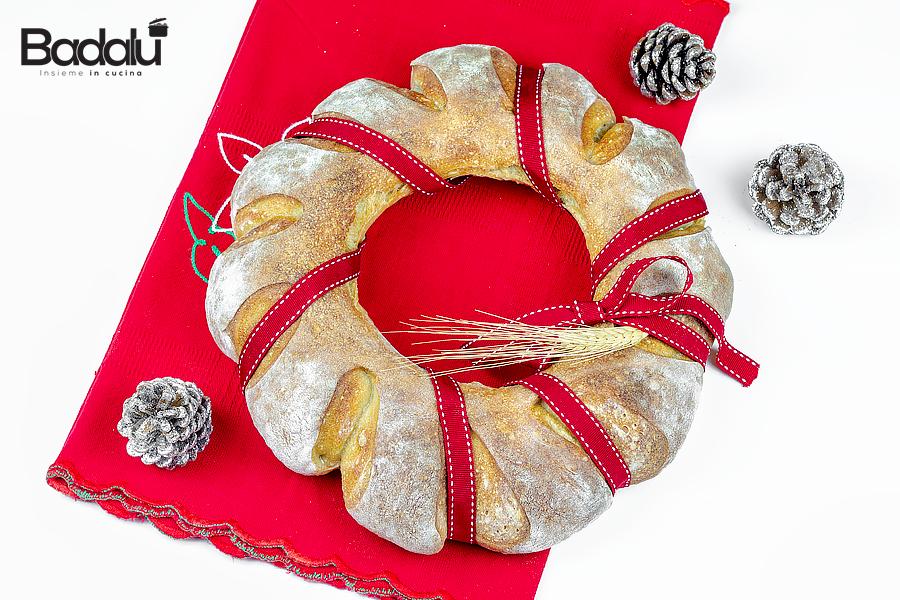 Ciambella di pane natalizia con farina tipo 0 selezione casillo