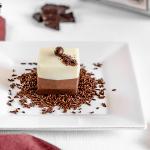 Budino ai tre cioccolati senza uova e senza gelatina Stampo Silikomart