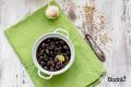 Olive sott'olio con aglio finocchio e scorzette di arancia