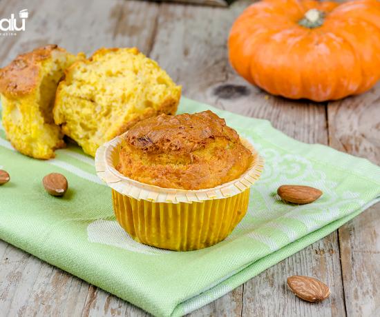 Muffin con zucca porri e mandorle- selezione casillo