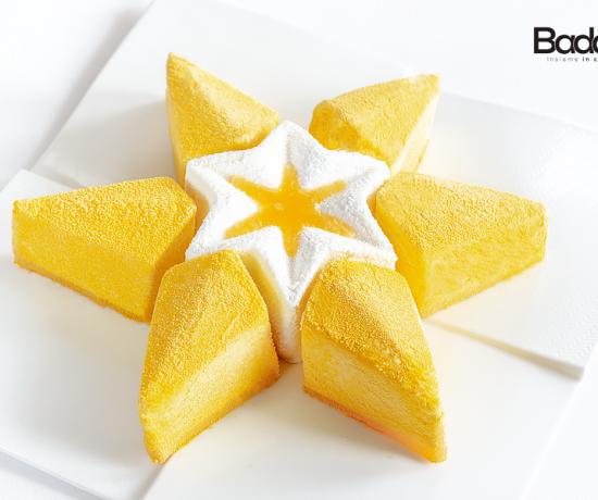 Cremoso al cioccolato bianco e gelée di mandarino stampo Silikomart Magic Star