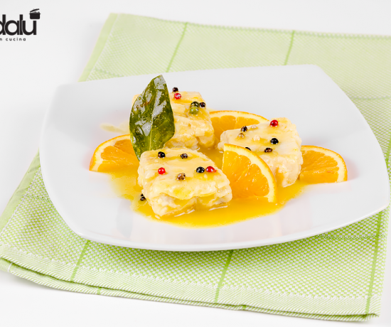 Filetto di pesce in salsa d'arancia