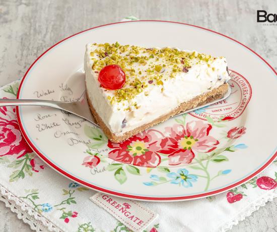 Cheesecake con cannoli siciliani