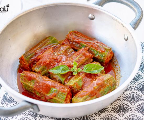 Zucchine romanesche ripiene di carne