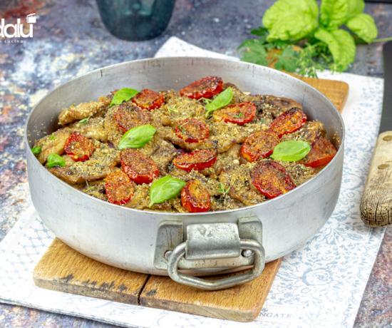 Sformato di verdure estive con pomodorini e cipolle di Tropea