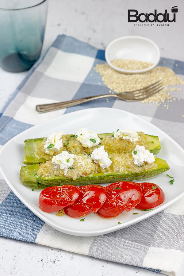 Zucchine ripiene di quinoa e ricotta- ricetta salutare