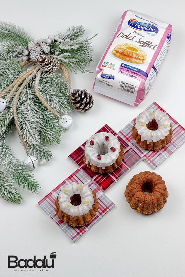 Ciambelle natalizie al profumo di zenzero e cannella - Lo conte farine magiche Decorì