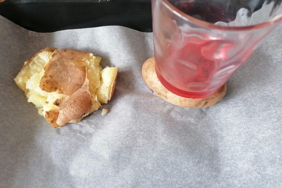 Bistecche di patate rosse al forno