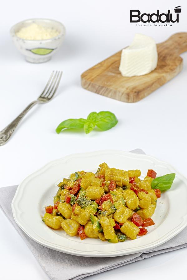 Gnocchi senza patate con verdure estive