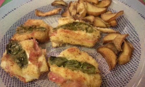 Saltimbocca di pollo e porcini fritti – Ricetta d'autunno