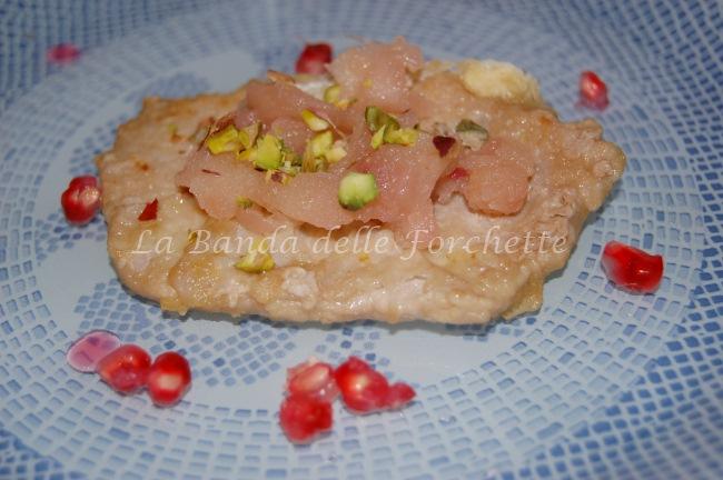 Arista alle mele, melograno e pistacchi