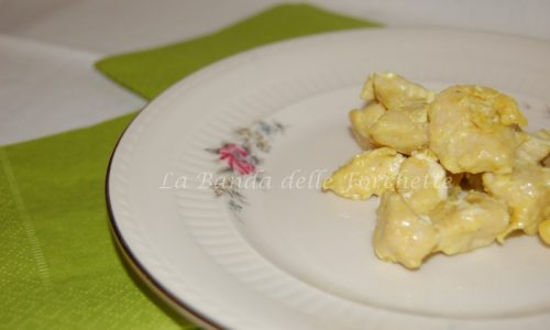 Pollo al curry e zenzero