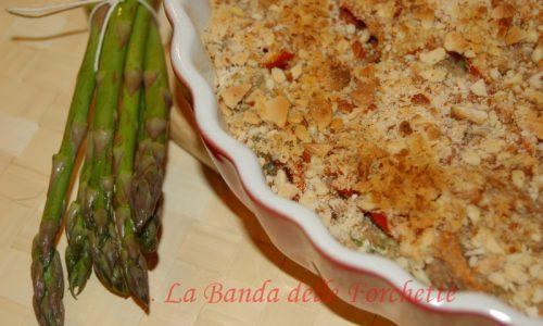 Crumble di asparagi e mandorle