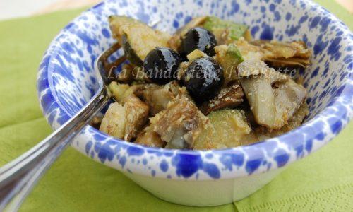 Padellata di verdure e olive gratinate