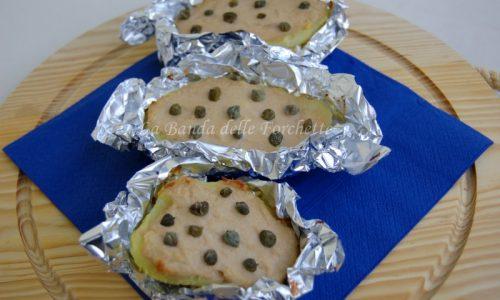 Barchette di patate tonno, philadelphia e provola