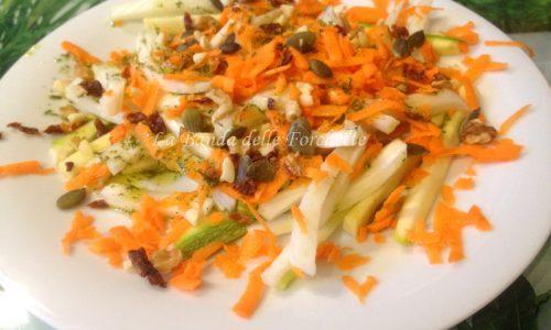 Cruditè di verdure e frutta secca con emulsione allo zenzero e limone