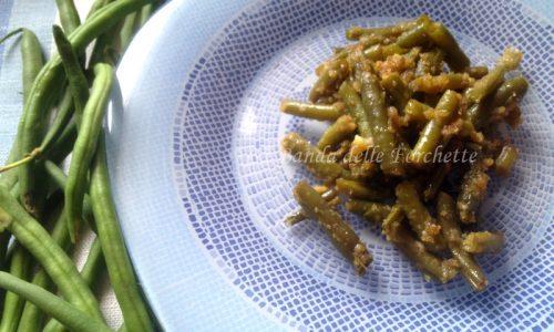 Fagiolini all'aceto balsamico e parmigiano