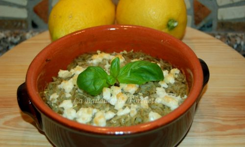 Terrina di riso, carciofi, feta e limone