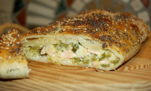 Strudel di zucchine e salmone