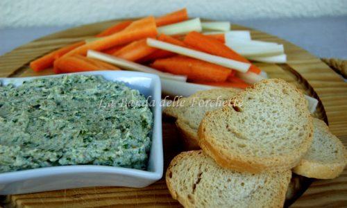 Salsa bianco verde per crostini e verdure