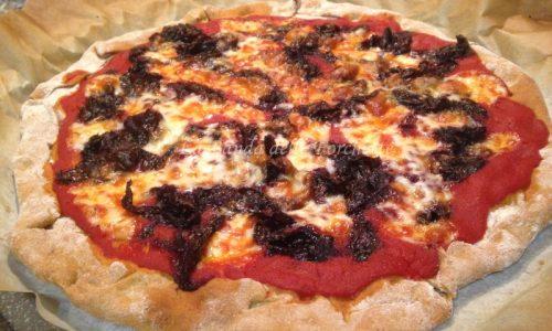Pizza senza lievito radicchio e gorgonzola